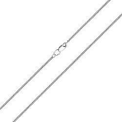 Золотая цепь панцирного плетения в белом цвете с алмазной гранью, 2мм 000115552