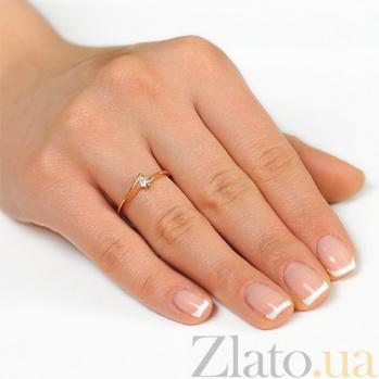 Золотое кольцо с бриллиантом Меланья EDM--КД7511
