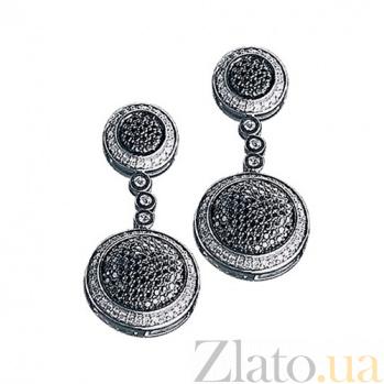 Золотые серьги с бриллиантами Фанданго KBL--С2264/бел/брил