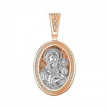 Ладанка золотая в комбинированном цвете 000141690