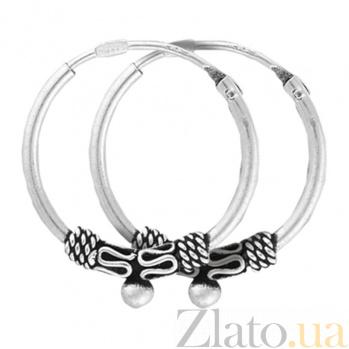 Серебряные сережки-кольца Ларэйн  SLX--С5/311