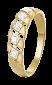 Серебряное кольцо с фианитами Кристин 000025579