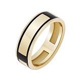 Золотое кольцо Атлантика с эмалью