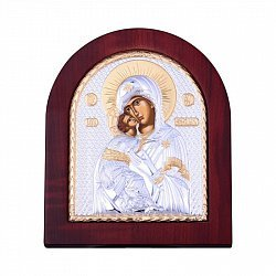 Посеребренная икона Владимирская Божья Матерь 000134538