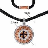 Колье Звезда Эрцгаммы со шнурком и  позолоченной застежкой, ø 3,5см