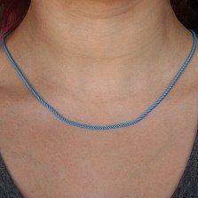 Шелковый шнурок голубого цвета Лигурия
