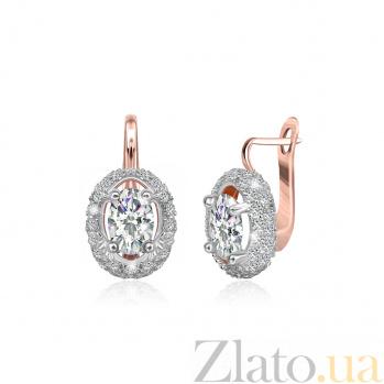 Серебряные серьги с фианитами Николь 000024564