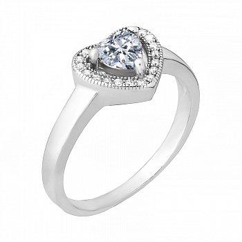 Серебряное кольцо с фианитами 000028295