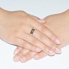 Золотое кольцо с цирконием Эрика