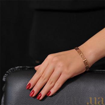 Браслет из красного золота Олимп в фантазийном плетении EDM--Б031
