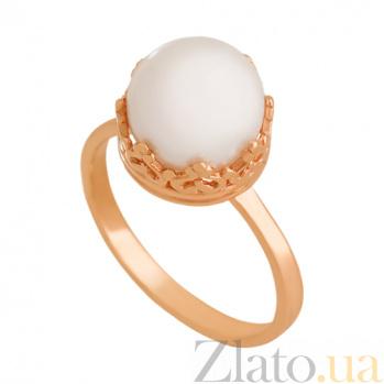 Золотое кольцо с жемчугом Рассвет империи 000024341