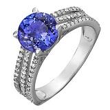 Серебряное кольцо с кварцем Фрезия