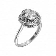 Золотое кольцо с бриллиантами Январская роза
