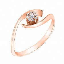 Кольцо из красного золота с бриллиантами Риана