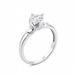 Серебряное кольцо с фианитом 000135185