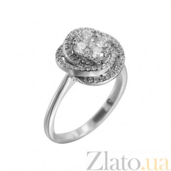 Золотое кольцо с бриллиантами Январская роза 000027287