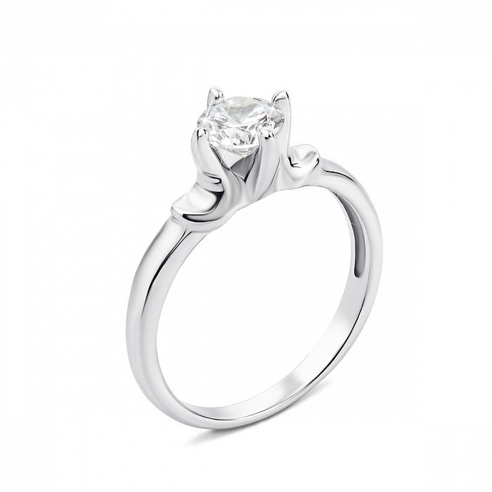 Серебряное кольцо с фианитом 000135185 000135185