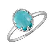 Кольцо в белом золоте Селина с голубым топазом