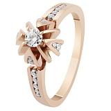 Золотое кольцо с бриллиантами Королевская лилия