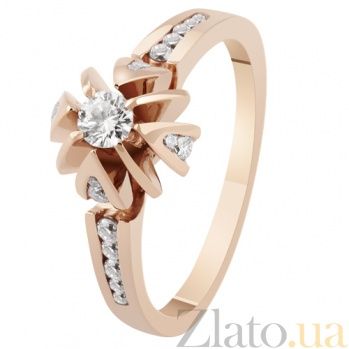 Золотое кольцо с бриллиантами Королевская лилия KBL--К1688/крас/брил