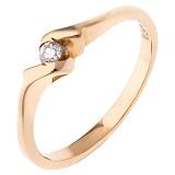 Золотое кольцо Шейла с бриллиантом