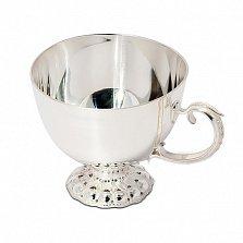 Серебряная кофейная чашка Изящество, 80мл