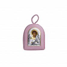 Серебряная икона Ангел с позолотой