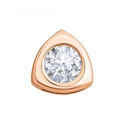 Золотой кулон Эмили с кристаллом циркония