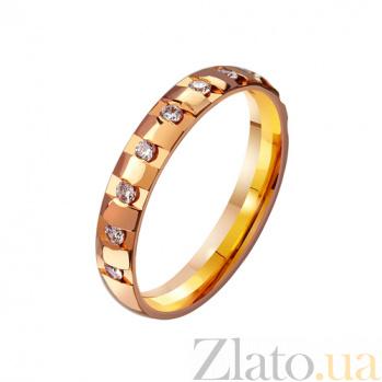 Золотое обручальное кольцо Моя душа с фианитами TRF--4121022