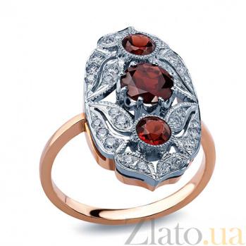 Кольцо с гранатами и бриллиантами Felice AQA--к011кG