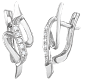 Серьги из серебра с фианитами Амари SLX--С2Ф/074