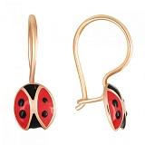 Золотые серьги Ladybird