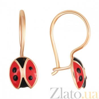 Золотые серьги Ladybird SVA--2429571/Без вставки