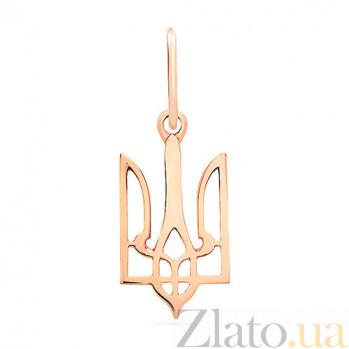 Подвеска из красного золота Украинский тризуб SUF--440579