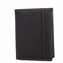 Кожаный кошелек-книжка Genuine Leather gr0033 черного цвета