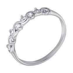 Серебряное кольцо с фианитами 000120553