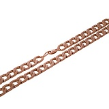 Золотая цепочка панцирного плетения Мужество