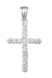 Серебряный крестик с фианитами Эдем