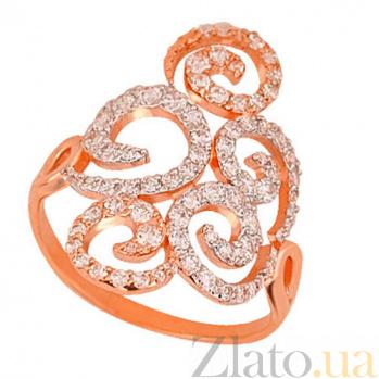 Кольцо из красного золота Актриса VLT--ТТТ1173-2