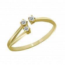 Кольцо из желтого золота Фиона с бриллиантами