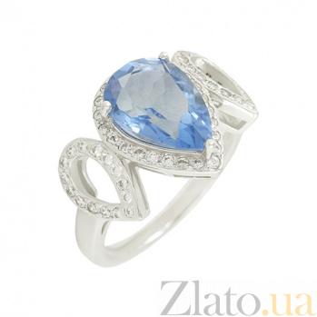 Серебряное кольцо с флюоритом и цирконием Рени 3К846-0270