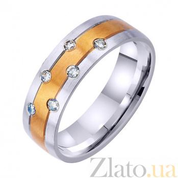 Золотое обручальное кольцо Адриатика с фианитами TRF--4421725
