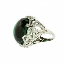 Золотое кольцо с бриллиантами и празиолитом Sunrise