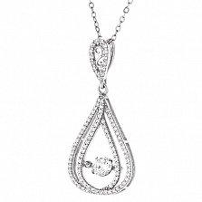Серебряное колье Генриетта с цирконием