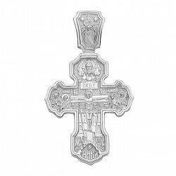 Православный серебряный крестик с молитвой 000134757