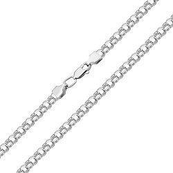 Серебряная цепь в плетении бисмарк 000129351