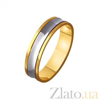 Золотое обручальное кольцо Мой стиль в комбинированном цвете TRF--4411596