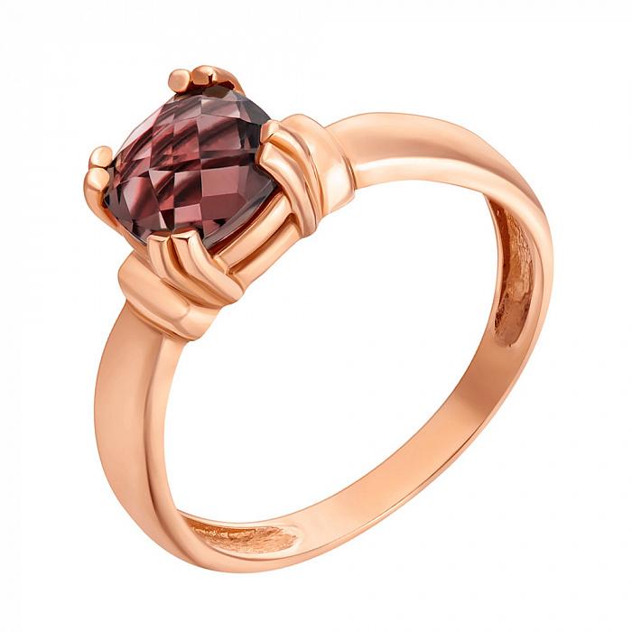 Кольцо в красном золоте София с гранатом 000082776