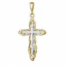 Серебряный крестик Мироздание с позолотой