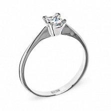 Кольцо из белого золота с бриллиантом Любимая